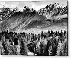 Acrylic Print featuring the photograph Alaskan Mountains by Katie Wing Vigil