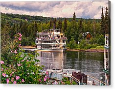 Alaskan Sternwheeler The Riverboat Discovery Acrylic Print by Michael Rogers