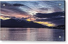 Alaskan Sunset On The Tongass Narrows Acrylic Print by Timothy Latta
