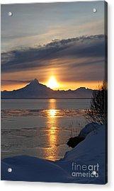 Alaskan Sunset Acrylic Print by Rick  Monyahan