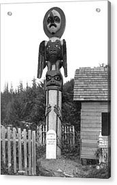 Alaskan Totem Pole Acrylic Print by Underwood Archives