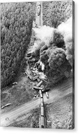 Alaskan Train Wreck Acrylic Print by Underwood Archives