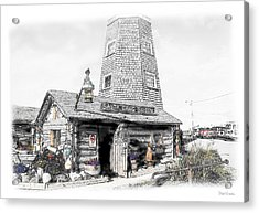 Acrylic Print featuring the photograph Alaska's Salty Dawg Saloon In B/w  by Dyle   Warren