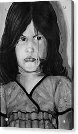 Alayna Off Center Acrylic Print by Jean Cormier