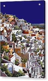 alba a Santorini Acrylic Print