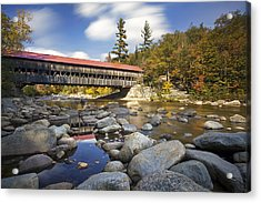 Albany Covered Bridge Acrylic Print by Eric Gendron