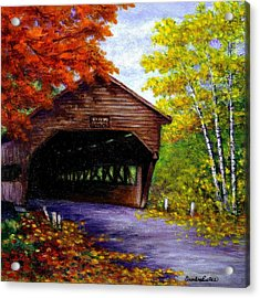 Albany Covered Bridge Acrylic Print by Sandra Estes