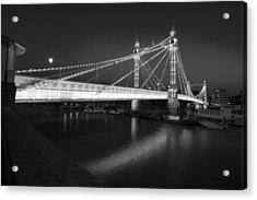 Albert Bridge At Night  Acrylic Print