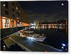 Albert Dock Liverpool Acrylic Print by Wayne Molyneux