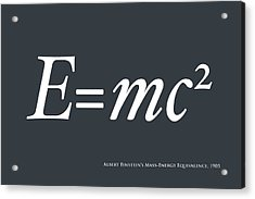 Albert Einstein E Equals Mc2 Acrylic Print by Michael Tompsett