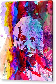 Albert Einstein Acrylic Print by Naxart Studio