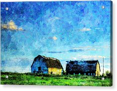 Alberta Barn At Sunset Acrylic Print