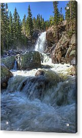 Alberta Falls Acrylic Print by Perspective Imagery