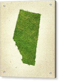 Alberta Grass Map Acrylic Print by Aged Pixel