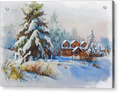 Alberta Landscape 05 Acrylic Print by Mahnoor Shah