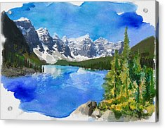 Alberta Landscape 13 Acrylic Print by Mahnoor Shah