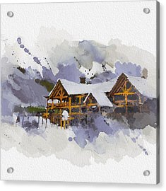 Alberta Landscape 15 Acrylic Print by Mahnoor Shah