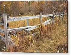 Alberta Ranchlands - Abandoned Corral Acrylic Print