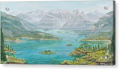 Acrylic Print featuring the painting Alberta Rocky Mountains by Cathy Long