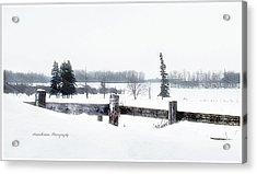 Alberta Winter Wonderland Acrylic Print by Donna Brown
