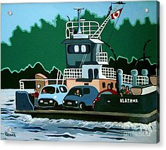 Acrylic Print featuring the painting Albion Ferry by Joyce Gebauer