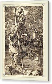 Albrecht Dürer German, 1471-1528, Saint Christopher Facing Acrylic Print by Litz Collection