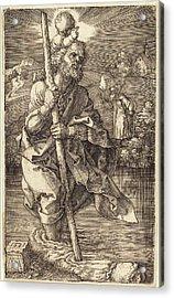 Albrecht Dürer German, 1471 - 1528, Saint Christopher Acrylic Print by Quint Lox