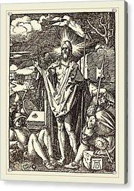 Albrecht Dürer German, 1471-1528, The Resurrection Acrylic Print by Litz Collection