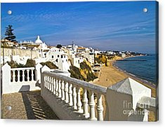 Albufeira Village By The Sea Acrylic Print by Heiko Koehrer-Wagner