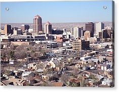 Albuquerque Skyline Acrylic Print by Bill Cobb