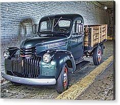 Alcatraz 1940 Chevy Utility Truck Acrylic Print by Daniel Hagerman