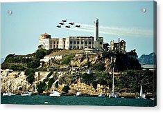 Alcatraz Blues Acrylic Print by Benjamin Yeager