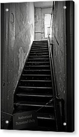 Alcatraz Hospital Stairs Acrylic Print by RicardMN Photography