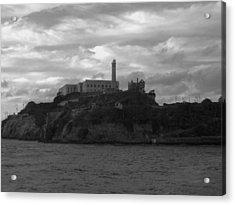 Alcatraz Island B N W Acrylic Print