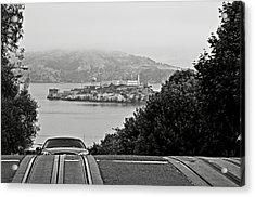 Alcatraz Island From Hyde Street In San Francisco Acrylic Print by RicardMN Photography
