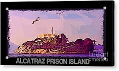 Alcatraz Prison Poster Acrylic Print by John Malone