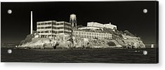 Alcatraz The Rock Sepia 1 Acrylic Print