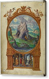 Alchemists Searching For Gold Acrylic Print by British Library