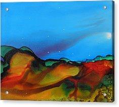 Alcohol Ink Landscape # 134 Acrylic Print