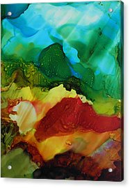 Alcohol Ink Landscape # 157 Acrylic Print