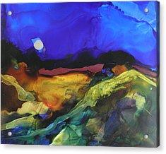Alcohol Ink Landscape # 164 Acrylic Print