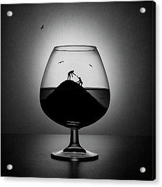 Alcoholism. The Hand Of Help Acrylic Print