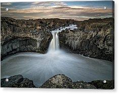 Aldeyjarfoss Waterfall North Iceland Acrylic Print