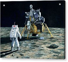Aldrin Joins Armstrong Acrylic Print
