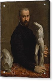 Alessandro Vittoria 152425-1608 Acrylic Print by Paolo Veronese