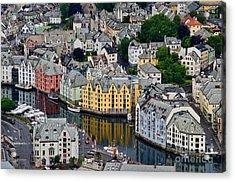 Alesund Norway Acrylic Print by Gerda Grice