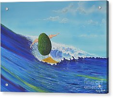 Alex The Surfing Avocado Acrylic Print