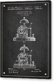 Alexander Bell Electric Call Bell Patent From 1881 - Dark Acrylic Print