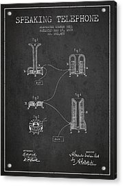 Alexander Graham Bell Speaking Telephone Patent From 1878 - Dark Acrylic Print by Aged Pixel