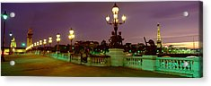 Alexander IIi Bridge, Paris, France Acrylic Print by Panoramic Images